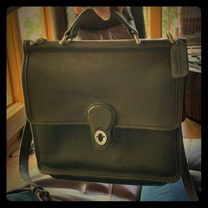 Authentic Vintage Coach olive msngr. saddle bag